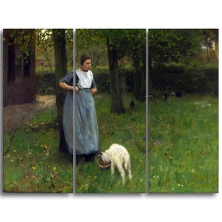 Design Art 'Anton Mauve - Woman from Laren with Lamb' Master Piece Landscape Artwork