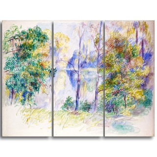 Design Art 'Auguste Renoir - View of a Park' Master Piece Landscape Artwork