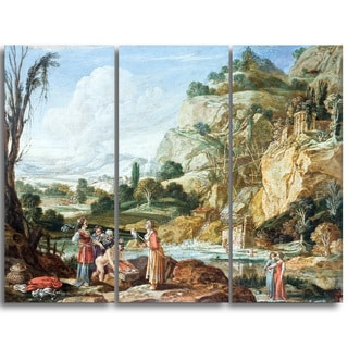 Design Art 'Bartholomeus Breenbergh - The Finding of Moses' Master Piece Landscape Artwork