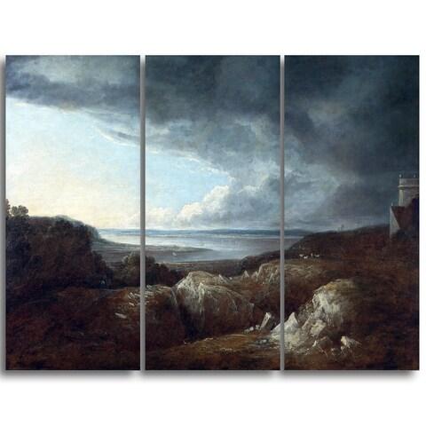 Design Art 'Benjamin Barker - View of the River Severn' Master Piece Landscape Artwork
