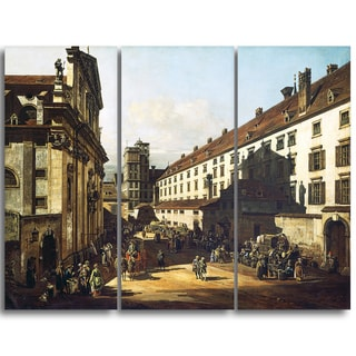 Design Art 'Bernardo Bellotto - Vienna, Dominican Church' Master Piece Landscape Artwork