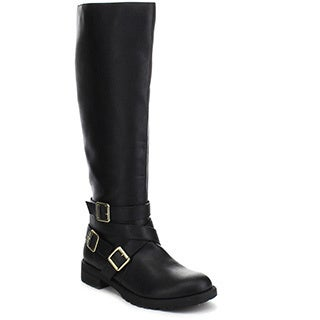 Beston Travis-11 Women's Chic Knee-high Straps Side Zipper Riding Boots