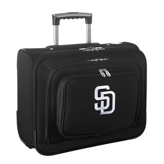 Denco Sports Legacy MLB San Diego Padres Carry On 14-inch Laptop Rolling Overnight Tote