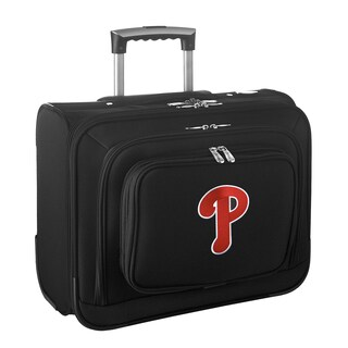 Denco Sports Legacy MLB Philadelphia Phillies Carry On 14-inch Laptop Rolling Overnight Tote