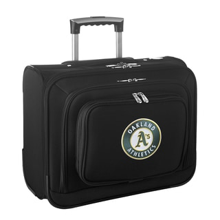 Denco Sports Legacy MLB Oakland A's Carry On 14-inch Laptop Rolling Overnight Tote