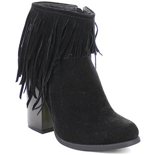 Beston Joseph-03 Women's Chic Side Zipper Fringe Ankle Booties