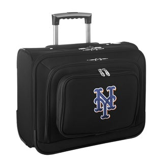 Denco Sports Legacy MLB New York Mets Carry On 14-inch Laptop Rolling Overnight Tote