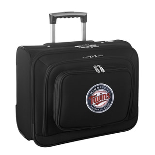 Denco Sports Legacy MLB Minnesota Twins Carry On 14-inch Laptop Rolling Overnight Tote