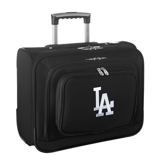 Denco Sports Legacy MLB Los Angeles Dodgers Carry On 14-inch Laptop Rolling Overnight Tote