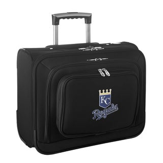 Denco Sports Legacy MLB Kansas City Royals Carry On 14-inch Laptop Rolling Overnight Tote