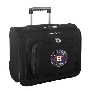 Denco Sports Legacy MLB Houston Astros Carry On 14-inch Laptop Rolling Overnight Tote