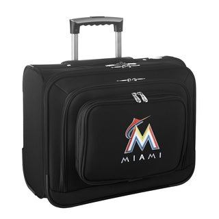 Denco Sports Legacy MLB Miami Marlins Carry On 14-inch Laptop Rolling Overnight Tote