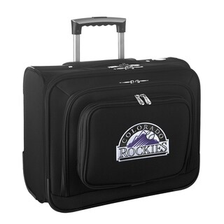 Denco Sports Legacy MLB Colorado Rockies Carry On 14-inch Laptop Rolling Overnight Tote