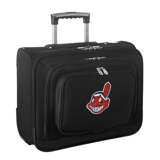 Denco Sports Legacy MLB Cleveland Indians Carry On 14-inch Laptop Rolling Overnight Tote