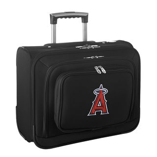 Denco Sports Legacy MLB Los Angeles Angels Carry On 14-inch Laptop Rolling Overnight Tote