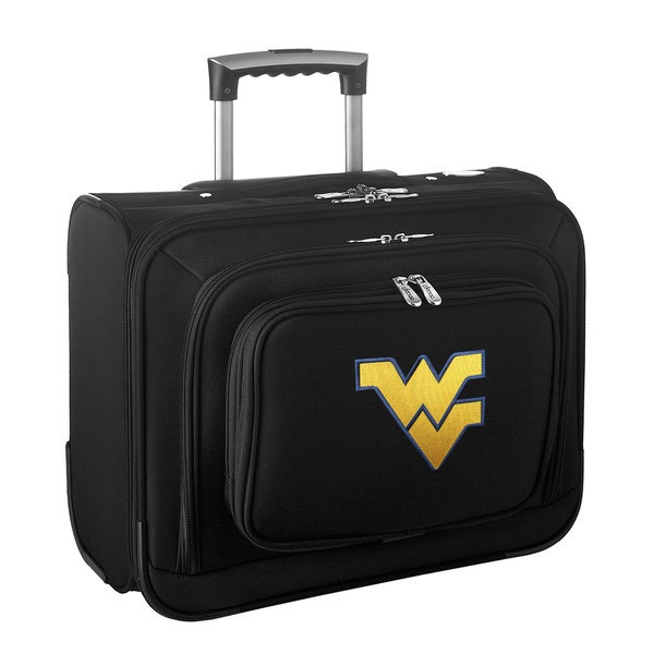 Denco Sports Legacy NCAA West Virginia Mounts Carry On 14-inch Laptop Rolling Overnight Tote