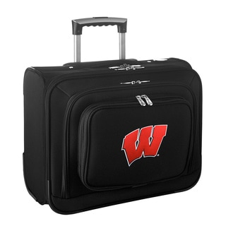 Denco Sports Legacy NCAA Wisconsin Badgers Carry On 14-inch Laptop Rolling Overnight Tote