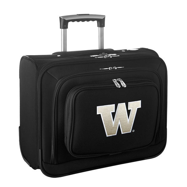 Denco Sports Legacy NCAA Washington Huskies Carry On 14-inch Laptop Rolling Overnight Tote