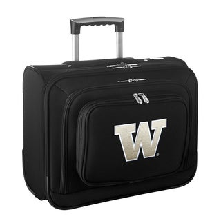 Denco Sports Legacy NCAA Washington Huskies Carry On 14-inch Laptop Rolling Overnight Tote