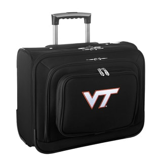 Denco Sports Legacy NCAA Virginia Tech Hokies Carry On 14-inch Laptop Rolling Overnight Tote