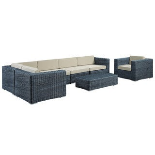 Modway Invite 7-Piece Outdoor Patio Sectional Set