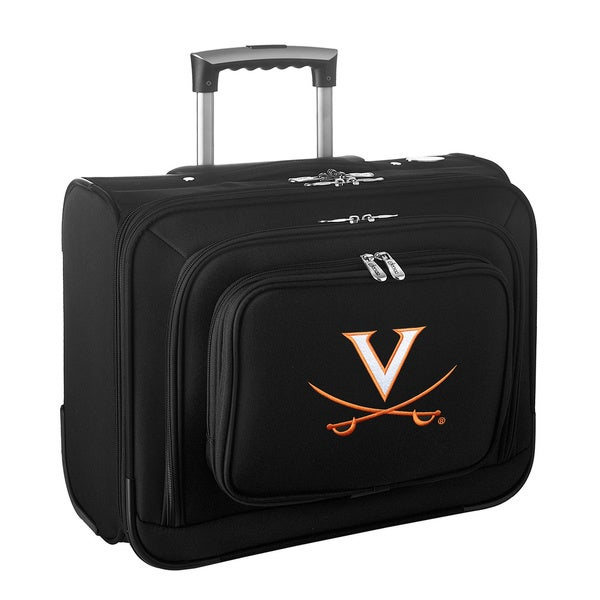 Denco Sports Legacy NCAA Virginia Cavaliers Carry On 14-inch Laptop Rolling Overnight Tote
