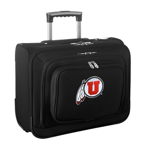 Denco Sports Legacy NCAA Utah Utes Carry On 14-inch Laptop Rolling Overnight Tote