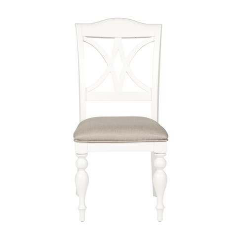 Summer Cottage White Splat Back Dining Chair (Set of 2)