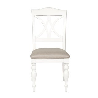 Summer Cottage White Splat Back Dining Chair