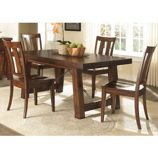 Tahoe Mahogany Trestle Table
