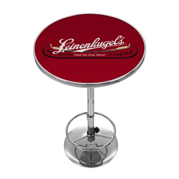 Leinenkugel's Pub Table with Chrome Base
