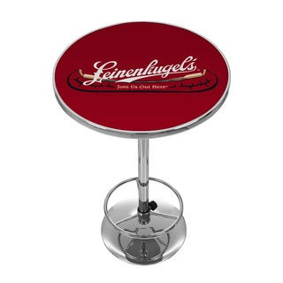 Leinenkugel's Pub Table with Chrome Base