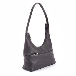 Royce Leather Women's Columbian Leather Black Hobo Handbag