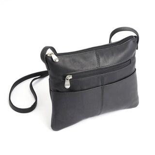Royce Leather Women's Handcrafted Columbian Leather Crossbody Handbag