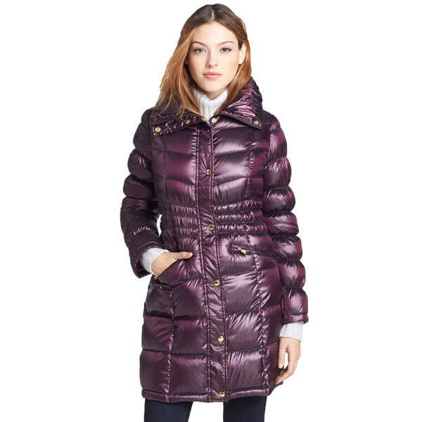 97b3ed00b3 Shop Michael Kors Women's Grape Down Gathered Waist Puffer Coat ...