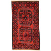 Herat Oriental Afghan Hand-knotted Tribal Balouchi  Wool Rug (2'8 x 4'8) - 2'8 x 4'8