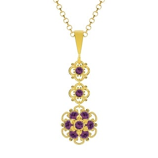 Lucia Costin Sterling Silver Violet Crystal Pendant