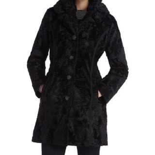 Laundry By Shelli Segal Women's Plus Size Faux Fur Reversible Coat