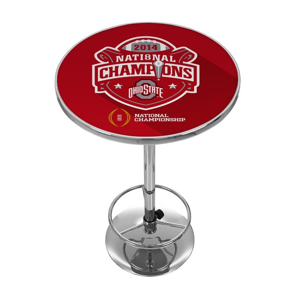 Ohio State University National Champions Chrome Pub Table
