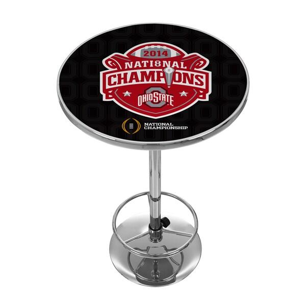 Ohio State University National Champions Chrome Pub Table - Fade