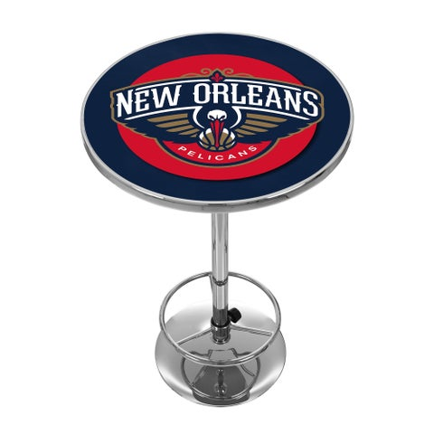 New Orleans Pelicans NBA Chrome Pub Table