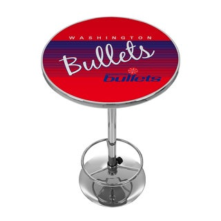 Washington Bullets Hardwood Classics NBA Chrome Pub Table