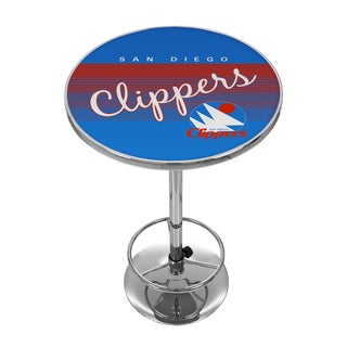 San Diego Clippers Hardwood Classics NBA Chrome Pub Table