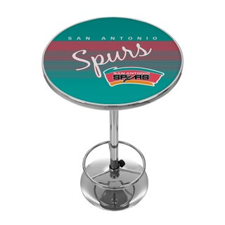San Antonio Spurs Hardwood Classics NBA Chrome Pub Table