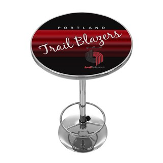 Portland Trailer Blazers Hardwood Classics NBA Chrome Pub Table