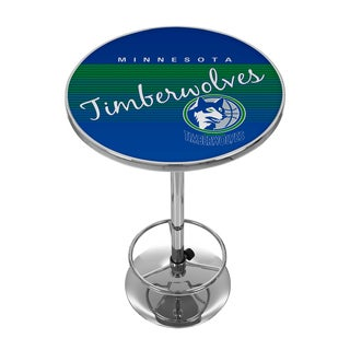 Minnesota Timberwolves Hardwood Classics NBA Chrome Pub Table