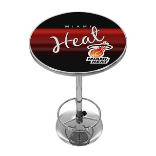 Miami Heat Hardwood Classics NBA Chrome Pub Table