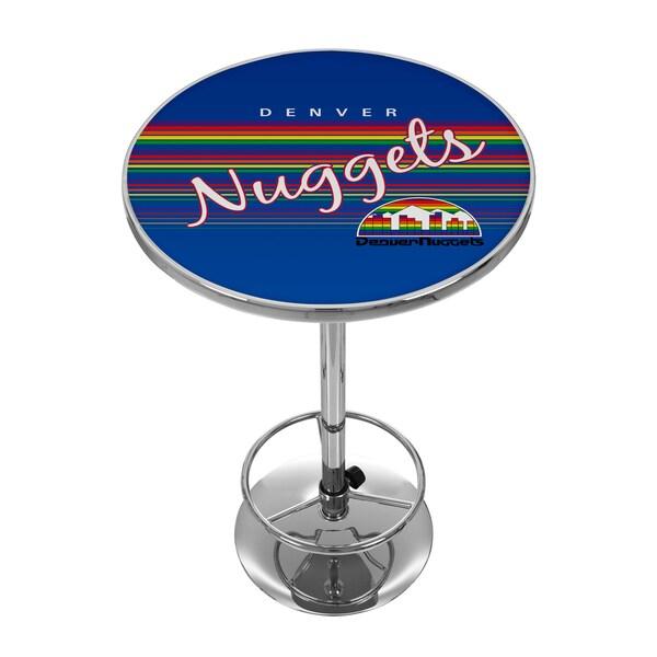 Denver Nuggets Hardwood Classics NBA Chrome Pub Table