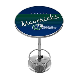 Dallas Mavericks Hardwood Classics NBA Chrome Pub Table
