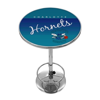 Charlotte Hornets Hardwood Classics NBA Chrome Pub Table